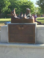 The iconic World War I statue in a Harrison park toppled