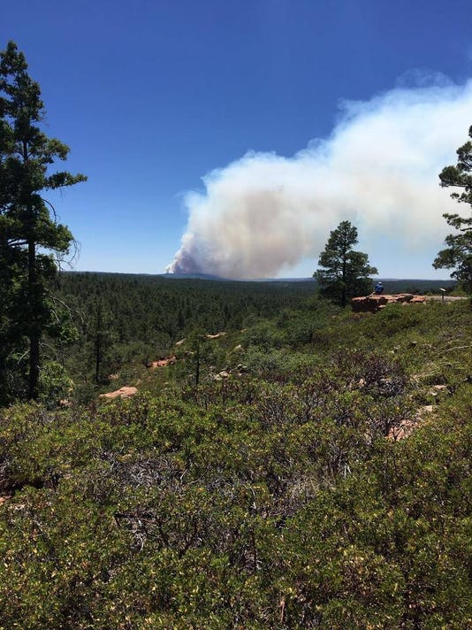 Fire near Show Low