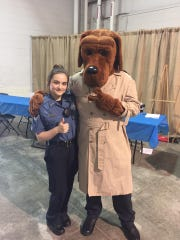 Cadet with a mascot