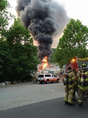 The transformer fire at 333 Torne Valley Road in Hillburn