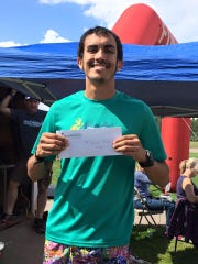 Dylan Villescas, of Las Cruces, finished the Ruidoso Marathon first with a time of 2:57:24.