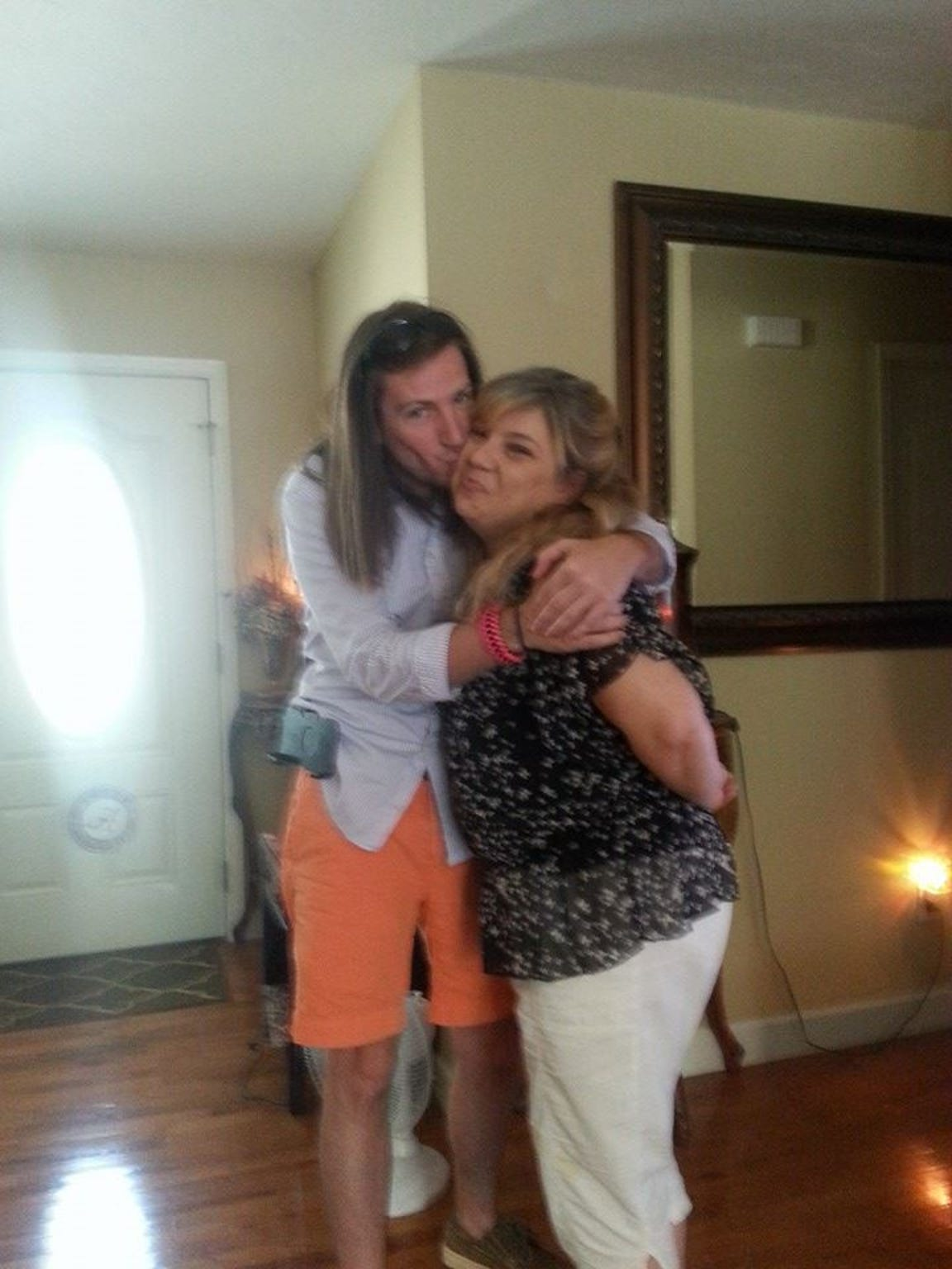 """Darren night with his real """"Southern Momma,"""" from whom"""