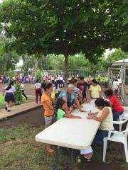 People waited in long lines to participate in a free clinic hosted by Tennessee church groups last month in León, Nicaragua.
