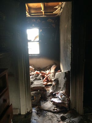 Remnants of a bedroom fire that investigators say was caused by a child.