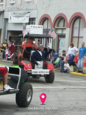 This float in Sheridan's July 4 parade is drawing outrage on social media.