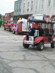 Float in Sheridan's July 4 parade.