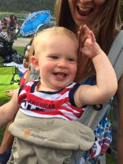 Even little ones were in a festive mood at IMG's annual fireworks show.