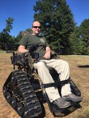 A track chair has helped Bullitt continue to enjoy