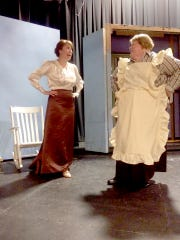 "Ashley Oyster plays Marian the Librarian in the Lebanon Community Theatre's production of ""The Music Man."" Also shown is Cheryl Reiss, who plays Mrs. Paroo. Show dates are Wednesday through Sunday, July 27-31 and August Wednesday, August 3 through Sunday August 7, 2016. Showtimes are 7:30 p.m. for Wednesday through Saturday, and Sunday Matinees are at 2:30 p.m."