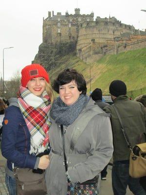 UW-Stevens Point students Melanie Heibler, Plover, and Corrine Schultz, Chetek, visited Edinburgh, Scotland, while spending a semester studying in London.