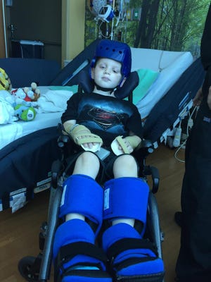 Connor Weston is recovering from a catastrophic brain injury following a traffic crash in July.