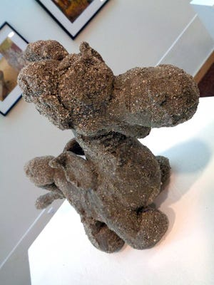 """A sculpture by La Quinta artist Kika Koki is one of several pieces displayed as part of the new """"Finding ReUse"""" exhibit  at the La Quinta Community Gallery."""