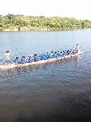 Lanier's Row-It Poets competed in this Saturday's Dragon Boat Race.