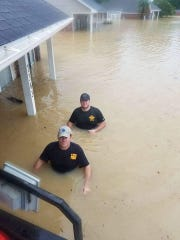 BPSO deputies in floodwaters of south Louisiana.