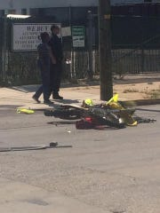 This was the scene at Prospect Street near Vander Avenue in York around 1:05 p.m. Sept. 4, when David Telp Jr., riding a dirt bike, collided with another vehicle. Telp later died at York Hospital, according to Coroner Pam Gay.