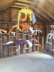 """Natalie Baxter's """"Warm Gun"""" series can be seen in """"Appetite for Destruction"""" at the Wassaic Project's Maxon Mills."""