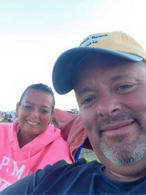David White and his wife, Dawn, on a recent beach vacation.