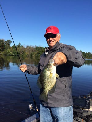 Jack Cardosi with a nice central Wisconsin crappie. The crappies in Washburn County have been keeping anglers happy.