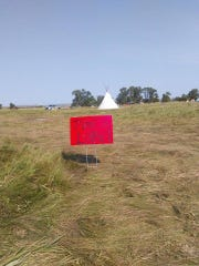 "A sign at the campground in North Dakota reads ""'Mni'"