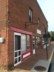 Gloria's Pupuseria's new storefront location in Staunton on the corner of Central Avenue and Pump Street.