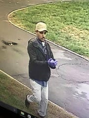 This man is being sought for his alleged role in a burglary in East Greenwich.