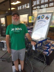 Shreveport resident Ryan Trundle took supplies to Standing