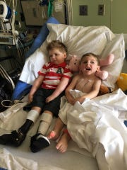 Tripp Halstead, left, and Hawk were good buddies.