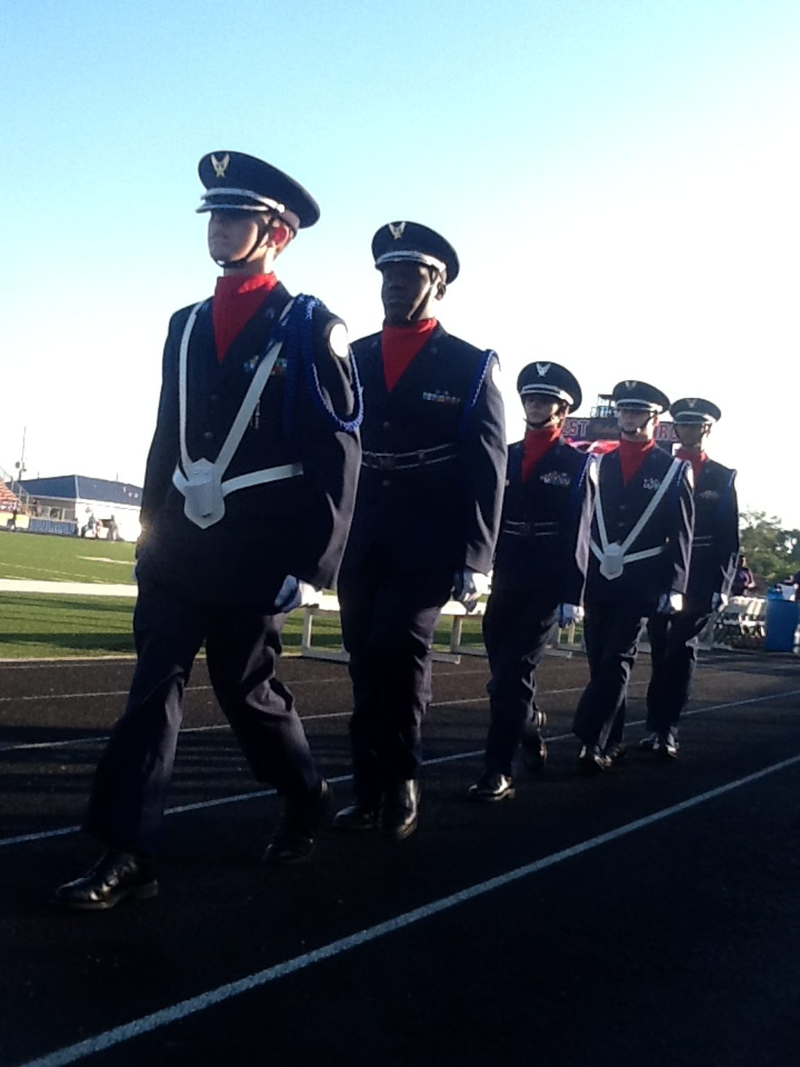West Monroe High School Air Force Junior ROTC cadets