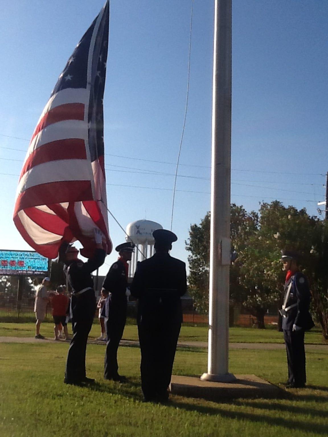 West Monroe High School Air Force Junior ROTC cadets