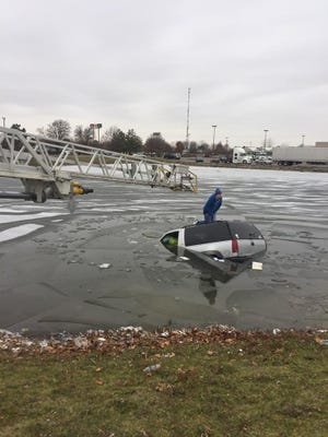 A 33-year-old woman drove her vehicle into a retention pond Dec. 11, 2016.