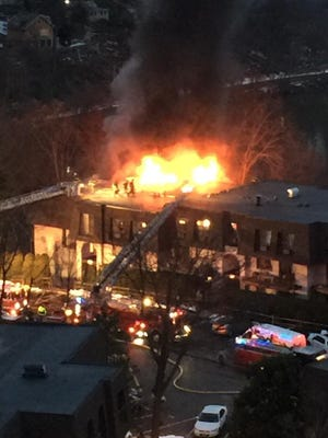 The fire at Kemeys Cover in Ossining started around 4 p.m. Wednesday.