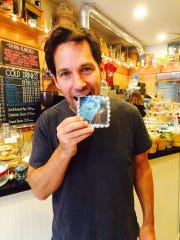 Actor Paul Rudd, a partner at Samuel's Sweet Shop in