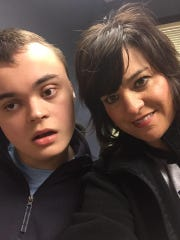 Connor and his mother, Martie.