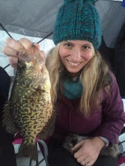 A nice crappies caught on a northwest Wisconsin inland