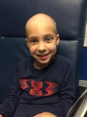 Johnny Sawyer Dyer, 7, a first grader at Gibbs Elementary School, was diagnosed with Acute Myeloid Leukemia in January 2017.
