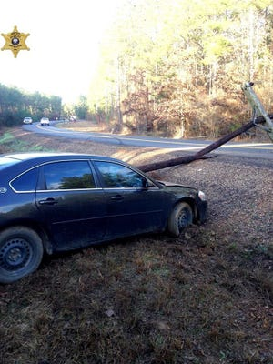 Power was knocked out to a portion of Natchitoches Parish on Wednesday morning, prompting the closure of one school, after a woman lost control of her car and knocked down two utility poles, according to a release.