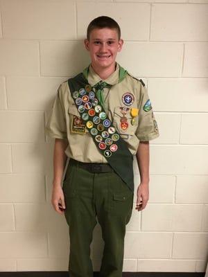 Colby Schalek of Boy Scout Troop 2 Vineland earned Eagle Scout rank.