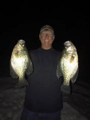 Phil Schweik with a couple of dandy central Wisconsin crappies.