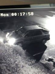 This is the car the man was driving, who police would like to speak with.