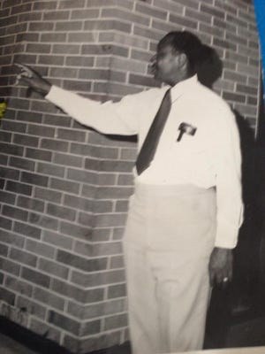 My father, William Weathersbee, monitoring the halls of Raines High School in the 1970s.