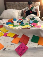 Josh Halasz received a lot of cards in honor of his 16th birthday.