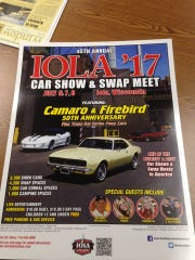 A poster of this year's Iola Car Show & Swap Meet,
