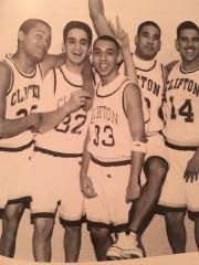 "Lorenzo Castaldo, #32, called Rivera, #33, a ""great teammate"" who created ""greater memories."" Castaldo said he was looking forward to seeing his former teammate at the 20-year reunion for Clifton High School's Class of 1997."