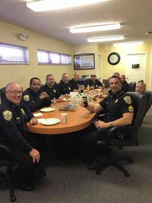 Chief of the Port St. Lucie Police Department, John Bolduc, and other officers attended the monthly First Responders Appreciation Day.
