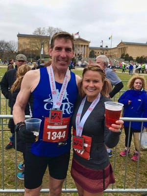 A couple of 1986 CASHS grads, Bill Dann and Cheryl Harvey, crossed the finish line at last weekend's Philadelphia Love Run Half Marathon. It was Harvey's first time running 13.1 miles while Dann, who has run a half or two in his time, set the course on fire with a 1:25:41, a time that earned him third place in the 45-49 age group.