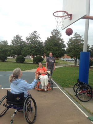 Participates at the Shenandoah Valley Paralympic Experience Day will get to play a variety of adaptive sports, including basketball.