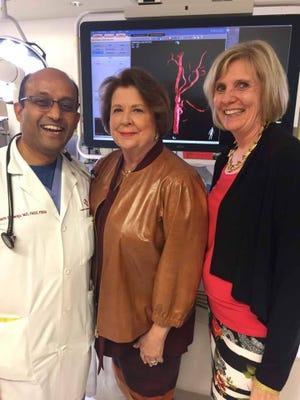 Dr. Srikanth Damaraju, Karen Urban, Mary Hime.
