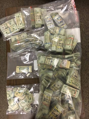 The McDowell County Sheriff's Office seized about 20 pounds of methamphetamine and $500,000 after a nine-month multi-agency investigation Tuesday April 18, 2017.
