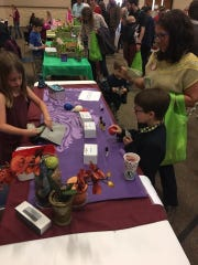 Children ages 5 to 16 developed their own brands to sell products and services April 22, 2017, at the Kids' Business Fair of Central Wisconsin at Highland Community Church in Wausau.