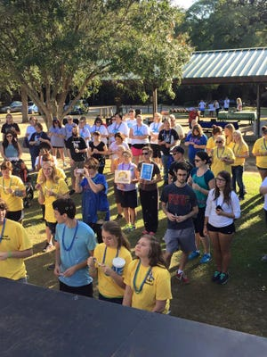 Participants at last year's Out of the Darkness suicide prevention walk.